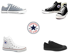 Wholesale Shoes - converse-mixed-allstars - Assorted Lot of Mens Ladies & Kids All Star Sneakers